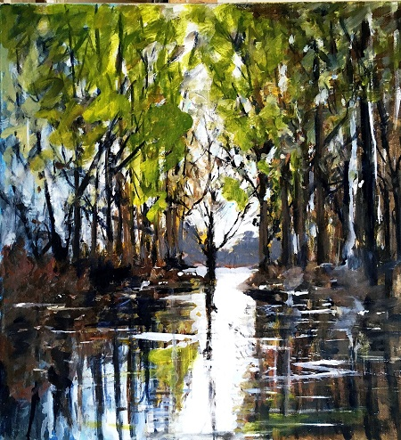 White Water on the Wey  - click to visit artists gallery ->