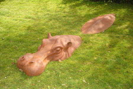 Mother Hippo Lifesize  - click to visit artists gallery ->