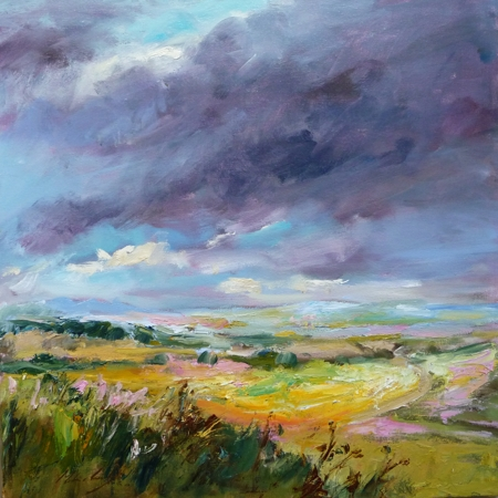 Downland View  - click to visit artists gallery ->