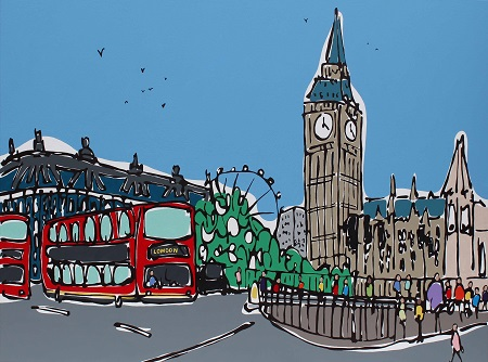 Big Ben Buses  - click to visit artists gallery ->