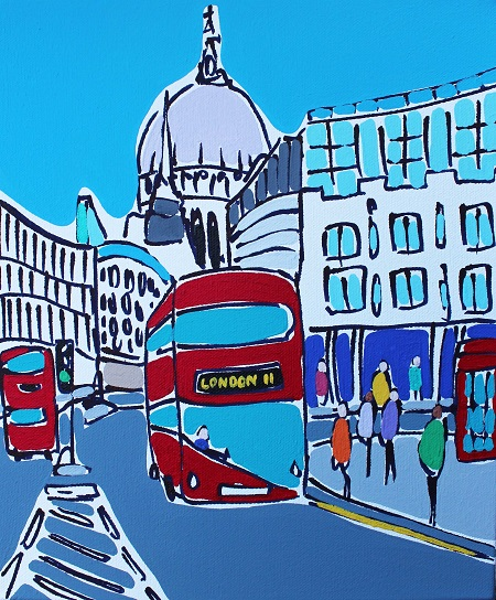 Mini Bus from St Pauls  - click to visit artists gallery ->