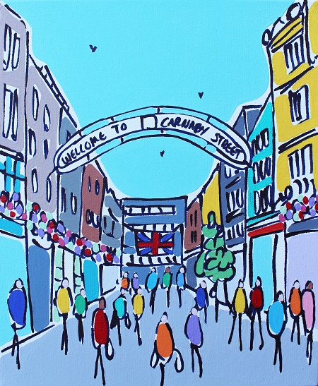 Mini Carnaby Street, Soho  - click to visit artists gallery ->
