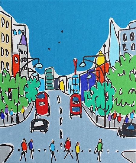 Mini Colours of Oxford Street  - click to visit artists gallery ->