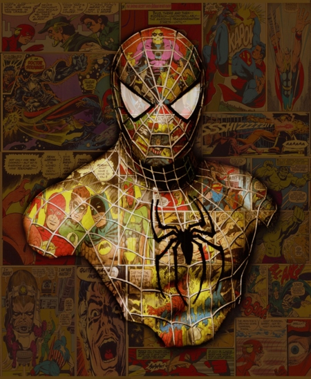 Spiderman 'Mini Series'  - click to visit artists gallery ->