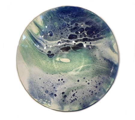 Medium Bowl Blue/Green  - click to visit artists gallery ->