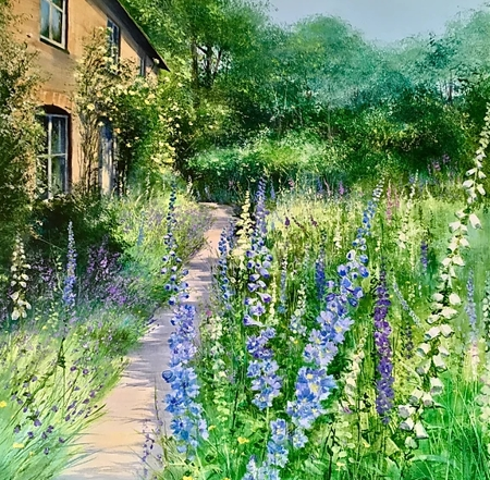 Delphinium Cottage  - click to visit artists gallery ->