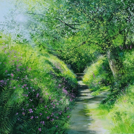 Sunlit Pathway  - click to visit artists gallery ->