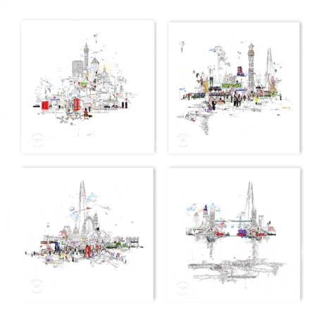 Collectors Edition - Set of 4 London II  - click to visit artists gallery ->