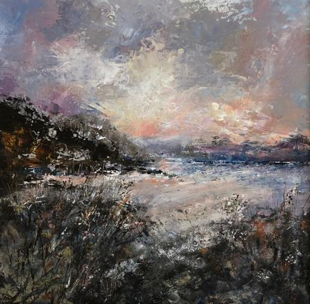 Dusk Over Luskentyre  - click to visit artists gallery ->