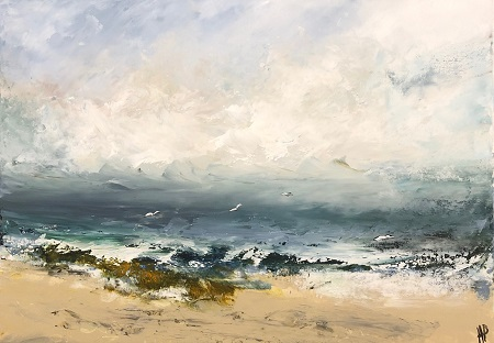 Sea, Sand & Gulls  - click to visit artists gallery ->
