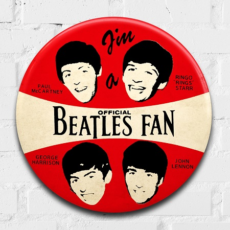 The Beatles giant 3D vintage pin badge  - click to visit artists gallery ->