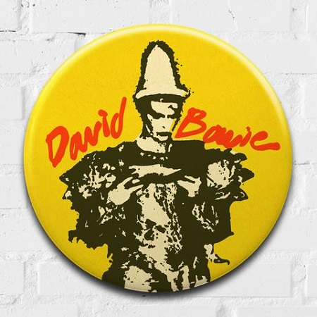 David Bowie(Ashes to Ashes)giant 3D vintage pin badge  - click to visit artists gallery ->