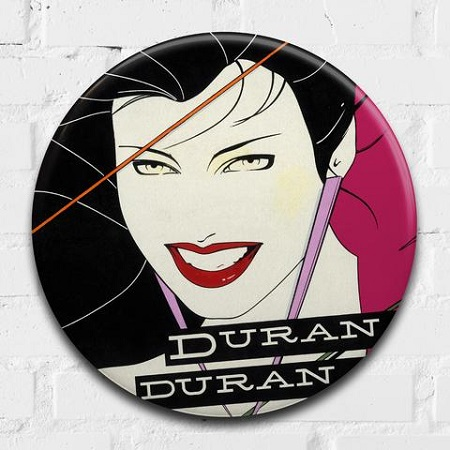 Duran Duran (Rio)giant 3D vintage pin badge  - click to visit artists gallery ->