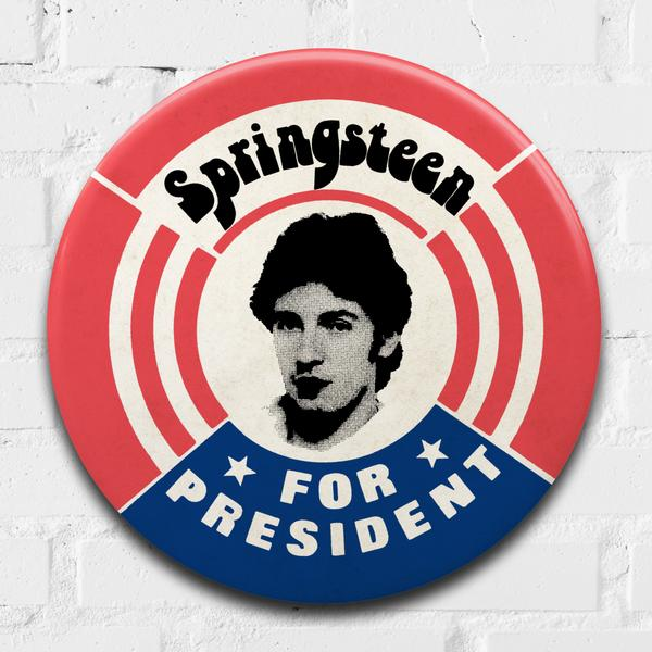 Springsteen giant 3D vintage pin badge  - click to visit artists gallery ->