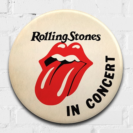 Rolling Stones giant 3D vintage pin badge  - click to visit artists gallery ->