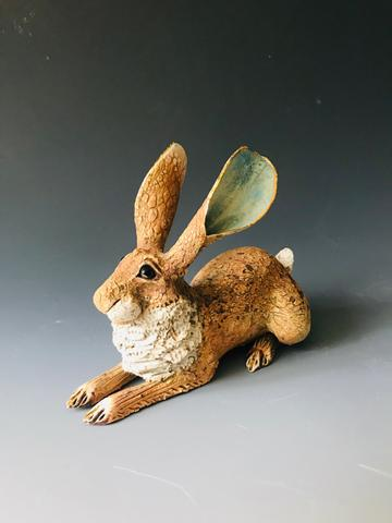 Crouching Hare  - click to visit artists gallery ->