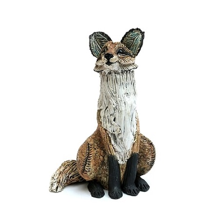 Small Sitting Fox  - click to visit artists gallery ->