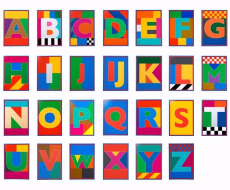 Peter Blake   |  The Dazzle Alphabet Letters Price on Request